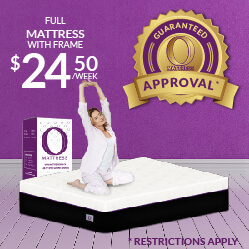 Full O Mattress with mattress $24.50 a week - Guaranteed Approval