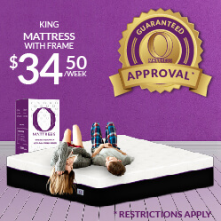 King O Mattress with frame $34.50 a week - Guaranteed Approval