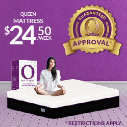 Queen O Mattress $24.50 a week - Guaranteed Approval