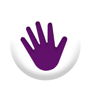 High Five Circle Icon