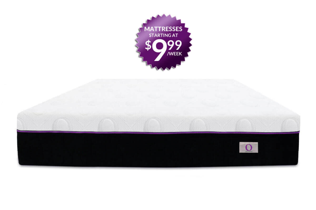O Mattress with seal in the back - Matresses starting at $9.99/week