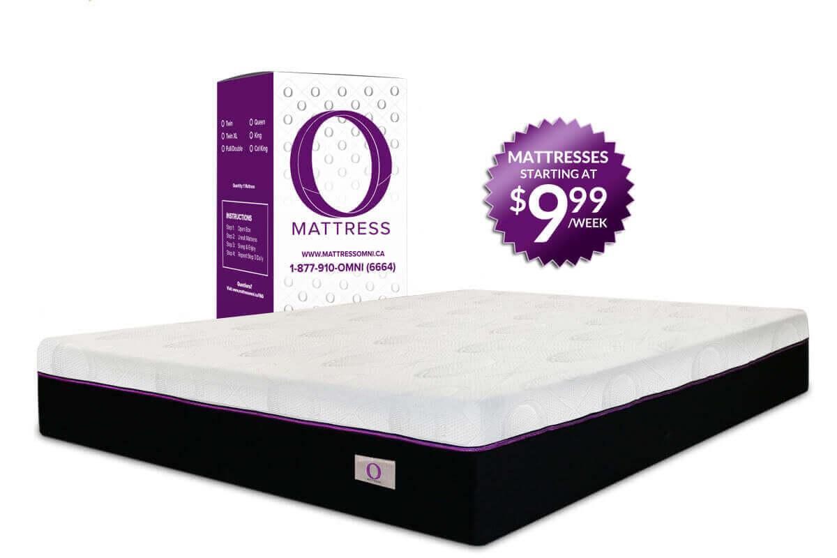 O Mattress, mattress in a box starting at $9.99 a week