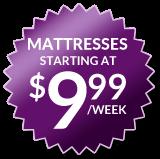 Mattresses starting at $9.99 a week seal