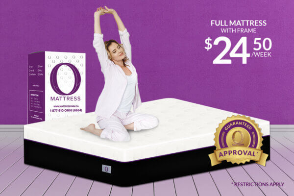 "Full ""O"" Mattress-Platinum with Frame"
