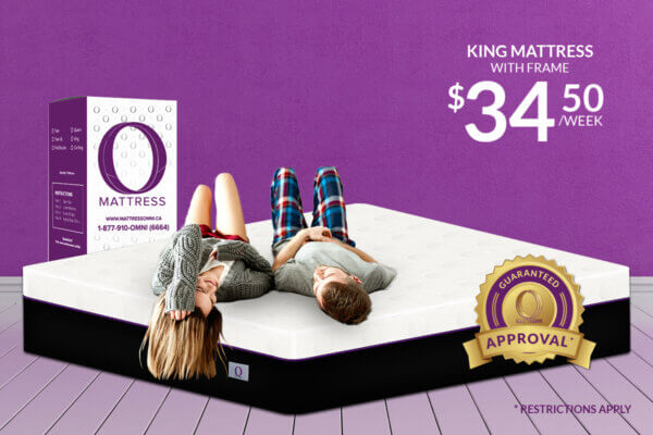 "King ""O"" Mattress-Platinum with Frame"