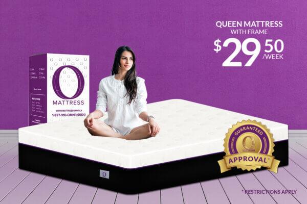 """Queen """"O"""" Mattress-Platinum with Frame"""