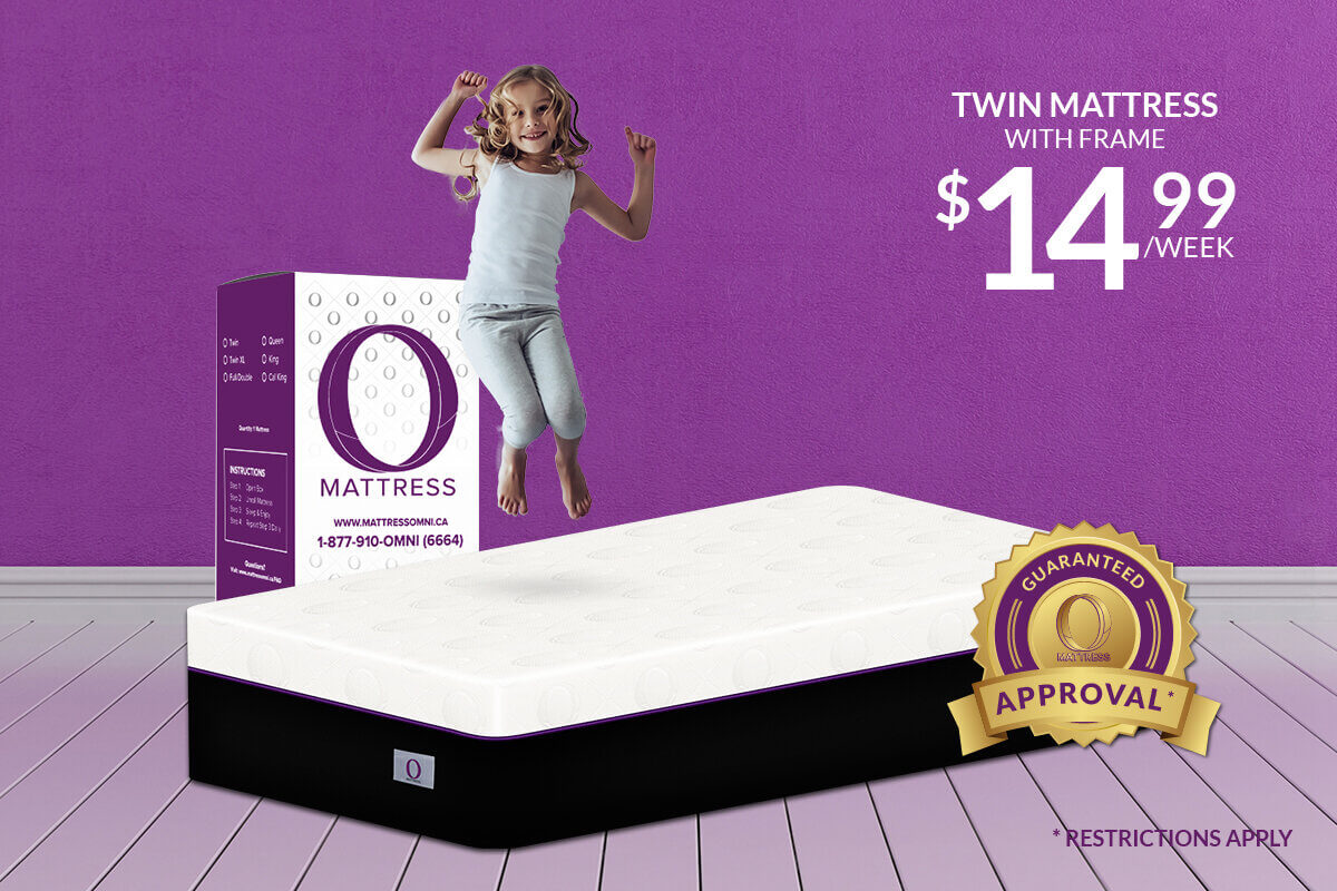 "Twin ""O"" Mattress-Platinum with Frame"