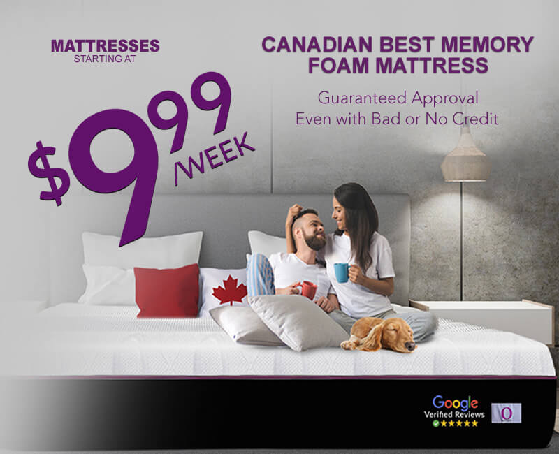 Canadian Best Memory Foam Matress Banner - $9.99 a week